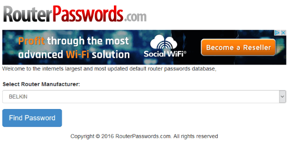 find-default-router-password